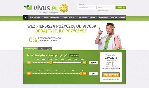 Vivus - Pożyczka online!